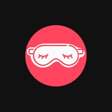Picture of an eye mask to represent sleep habits