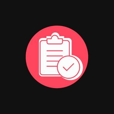 Picture of a clipboard with a tick mark to represent getting tasks done and achieving goals