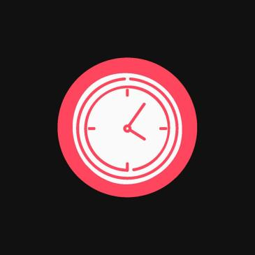 Picture of a clock face indicating productivity